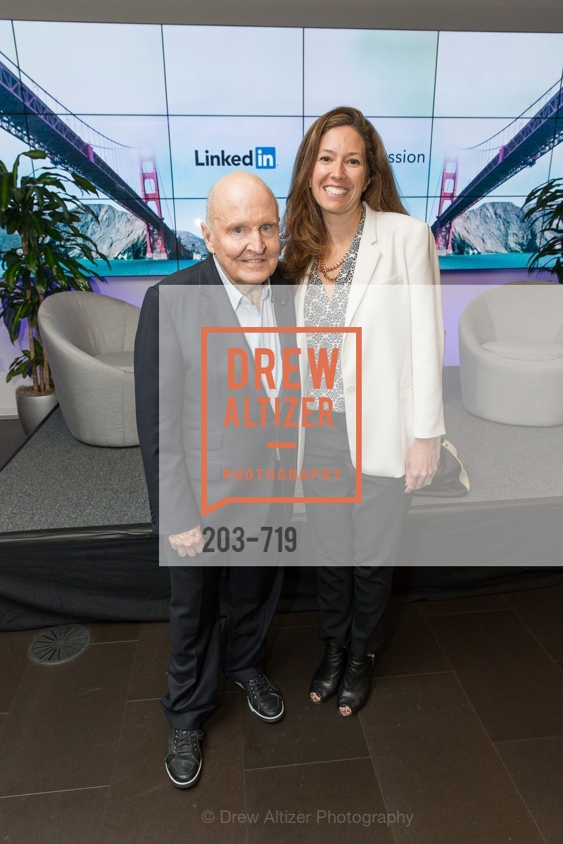 Jack Welch, Kristine Shine, THE LINKEDIN Discussion Series featuring Jack and Suzy Welch with LinkedIn Executive Editor Dan Roth, US, May 12th, 2015,Drew Altizer, Drew Altizer Photography, full-service event agency, private events, San Francisco photographer, photographer California