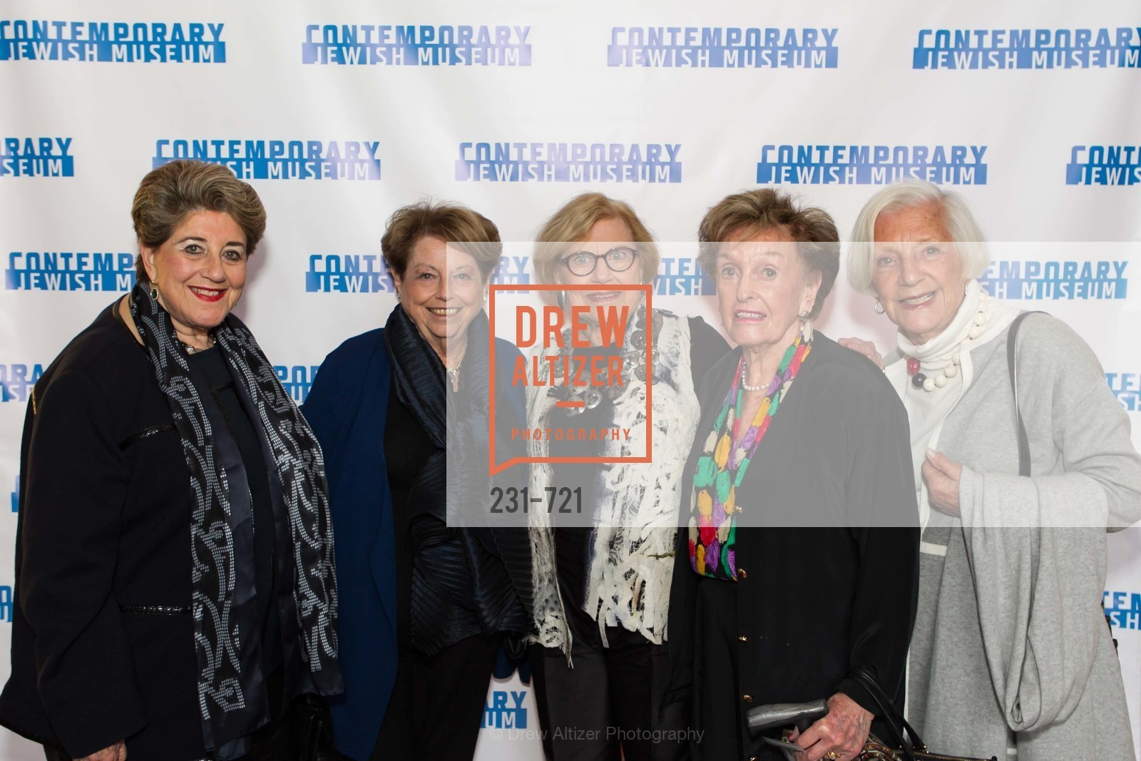 Eileen Battat, Frances Berger, Dorothy Saxe, Selma Kolden, Sally Gradinger, The 2015 Dorothy Saxe Invitational Celebration at the JEWISH MUSEUM, US, May 13th, 2015,Drew Altizer, Drew Altizer Photography, full-service agency, private events, San Francisco photographer, photographer california