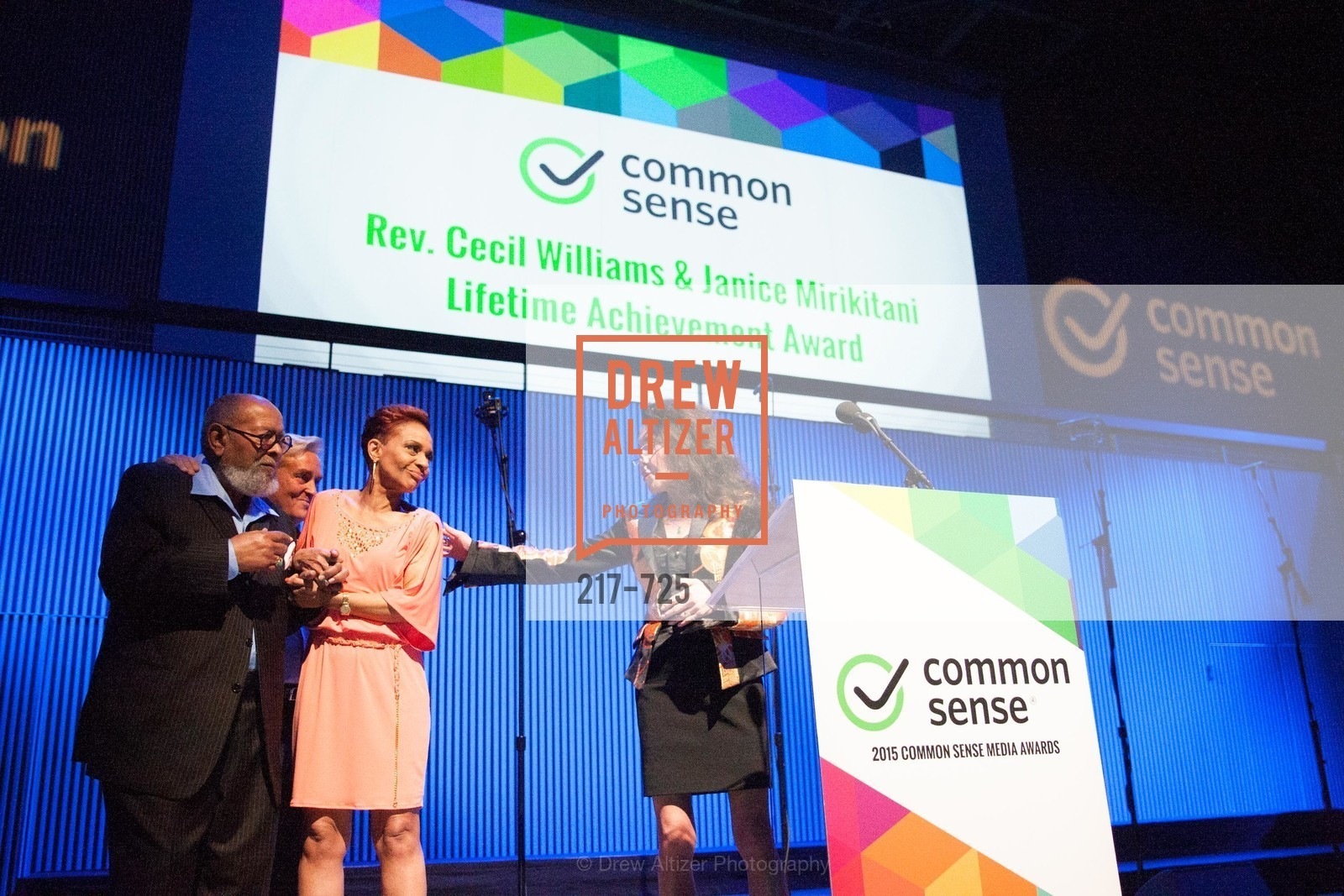 Reverend Cecil Williams, Renel Brooks-Moon, Janice Mirikitani, COMMON SENSE Media Awards 2015, US, May 14th, 2015,Drew Altizer, Drew Altizer Photography, full-service agency, private events, San Francisco photographer, photographer california
