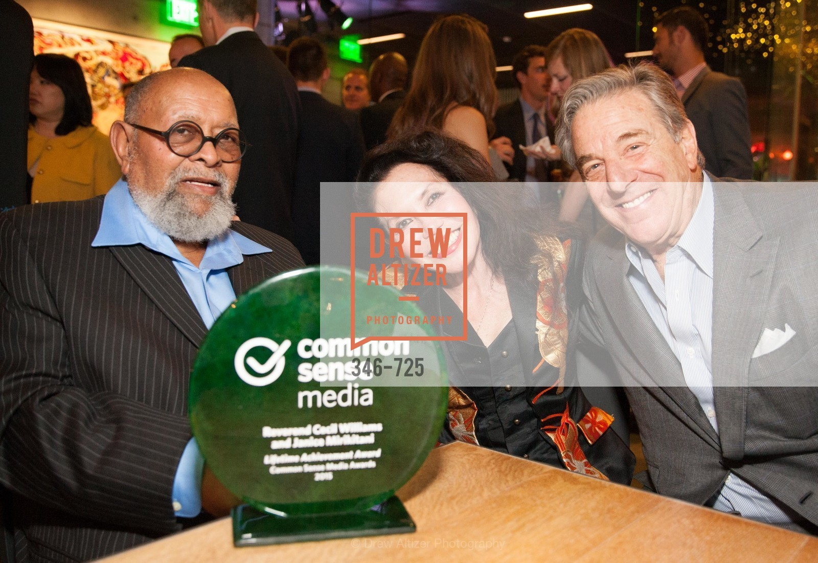 Reverend Cecil Williams, Janice Mirikitani, Paul Pelosi, COMMON SENSE Media Awards 2015, US, May 14th, 2015,Drew Altizer, Drew Altizer Photography, full-service agency, private events, San Francisco photographer, photographer california
