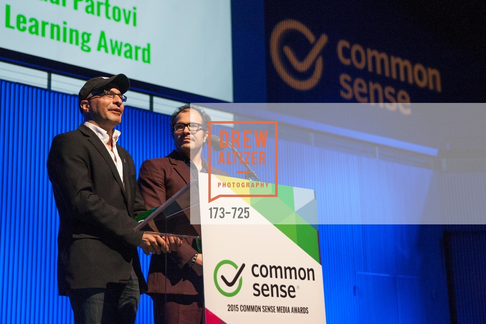 Hadi Partovi, Ali Partovi, COMMON SENSE Media Awards 2015, US, May 14th, 2015