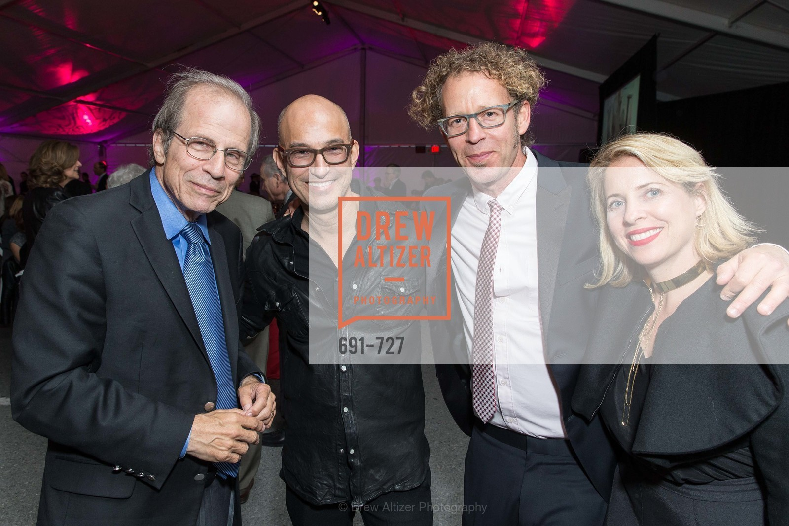 Michael  Krasny, Eric McDougall, Ken Goldberg, Tiffany Shlain, SAN FRANCISCO ART INSTITUTE Gala Honoring Art Visionary and Advocate ROSELYNE CHROMAN SWIG, US, May 13th, 2015,Drew Altizer, Drew Altizer Photography, full-service agency, private events, San Francisco photographer, photographer california