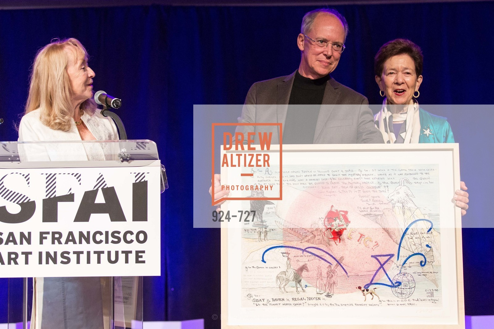 Cynthia Plevin, Charles Desmarais, Cissie Swig, SAN FRANCISCO ART INSTITUTE Gala Honoring Art Visionary and Advocate ROSELYNE CHROMAN SWIG, US, May 13th, 2015,Drew Altizer, Drew Altizer Photography, full-service agency, private events, San Francisco photographer, photographer california