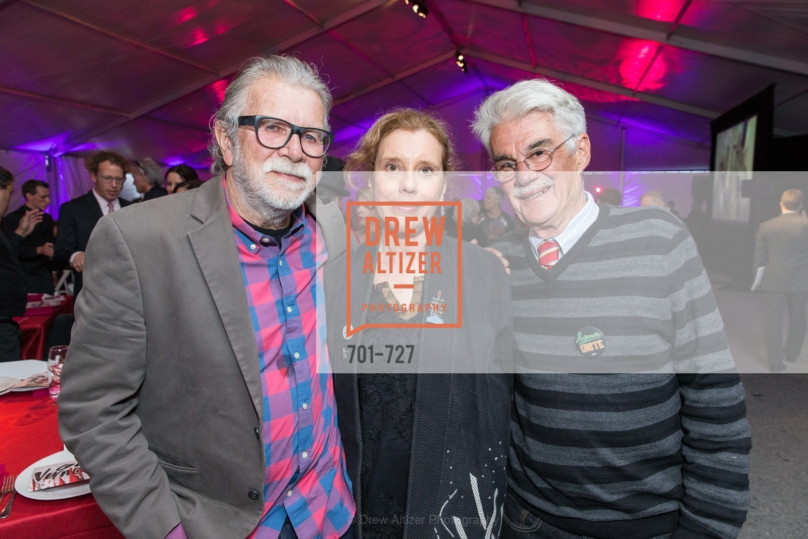 Robert Hudson, Mary Hull Webster, Richard Shaw, SAN FRANCISCO ART INSTITUTE Gala Honoring Art Visionary and Advocate ROSELYNE CHROMAN SWIG, US, May 14th, 2015,Drew Altizer, Drew Altizer Photography, full-service agency, private events, San Francisco photographer, photographer california