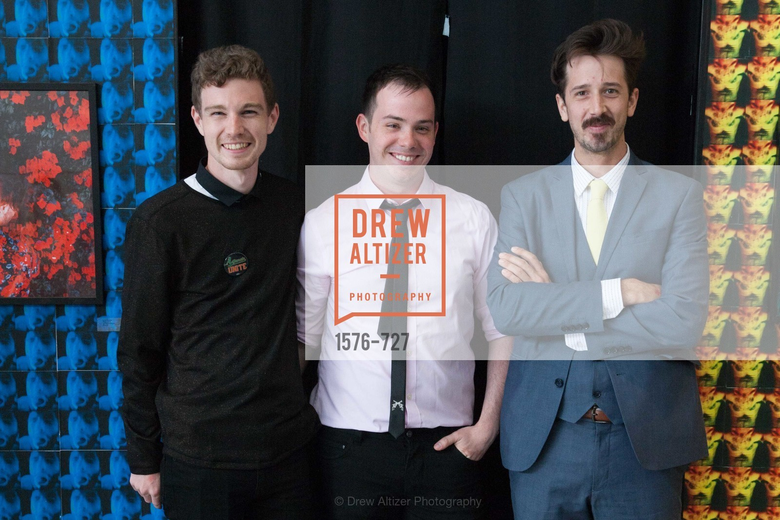 Christopher Squire, Scott Welsh, Owen Laurion, SAN FRANCISCO ART INSTITUTE Gala Honoring Art Visionary and Advocate ROSELYNE CHROMAN SWIG, US, May 14th, 2015,Drew Altizer, Drew Altizer Photography, full-service agency, private events, San Francisco photographer, photographer california