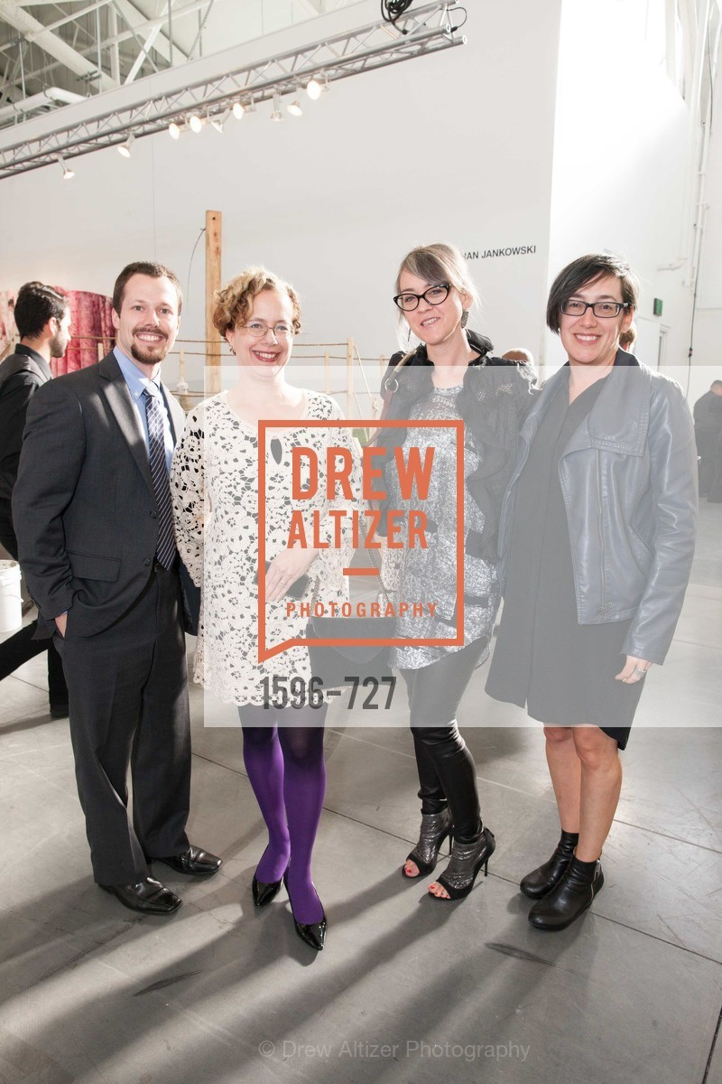 Anthony Molinar, Rachel Schreiber, Jennifer Rissler, Megan Sacks, SAN FRANCISCO ART INSTITUTE Gala Honoring Art Visionary and Advocate ROSELYNE CHROMAN SWIG, US, May 14th, 2015,Drew Altizer, Drew Altizer Photography, full-service agency, private events, San Francisco photographer, photographer california