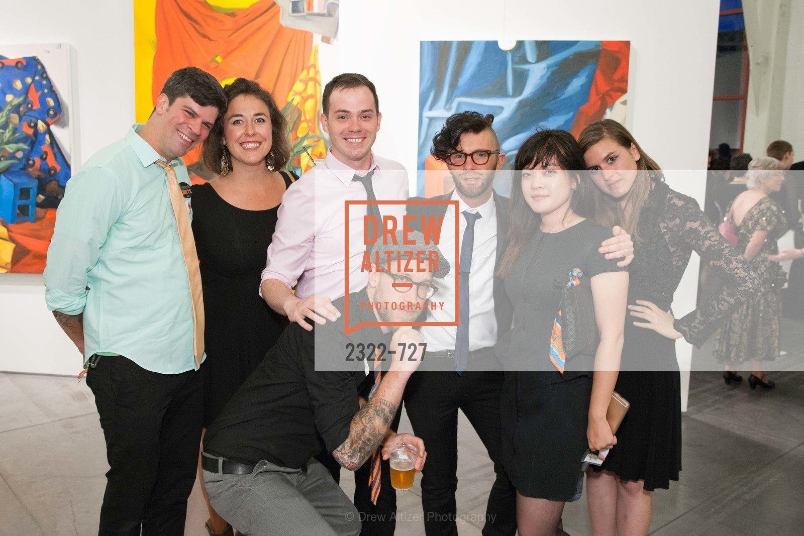 Scott Isenbarger, Madeleine Brown, Scott Welsh, Michael Wayne Garfoot, Aaron David Kissman, Grace Kim, Dana Bialik, SAN FRANCISCO ART INSTITUTE Gala Honoring Art Visionary and Advocate ROSELYNE CHROMAN SWIG, US, May 14th, 2015,Drew Altizer, Drew Altizer Photography, full-service agency, private events, San Francisco photographer, photographer california