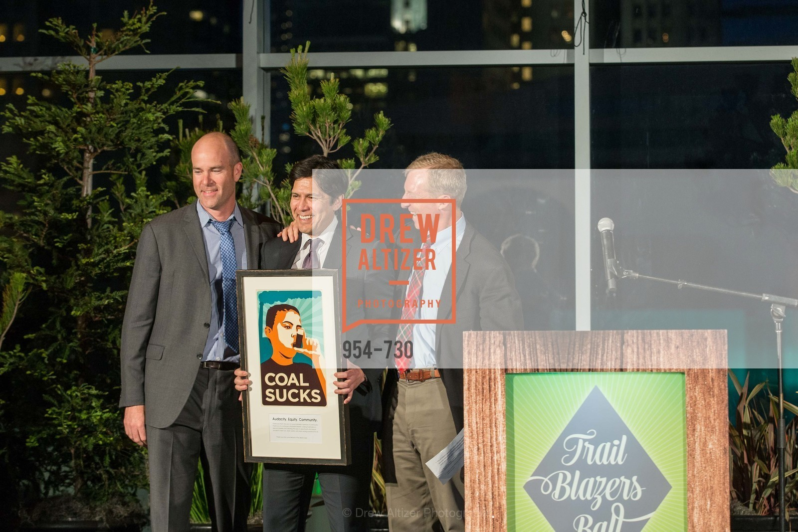 Michael Brune, State Senator Kevin DeLeon, Tom Steyer, 2015 SIERRA CLUB Trail Blazers Ball, US, May 14th, 2015,Drew Altizer, Drew Altizer Photography, full-service agency, private events, San Francisco photographer, photographer california