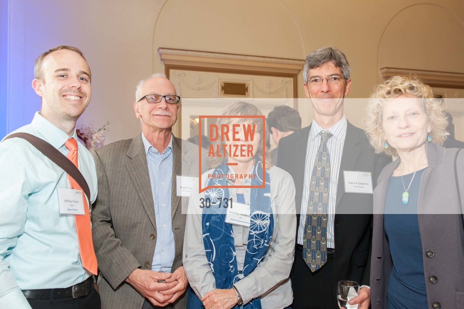 Jeffrey Flynn, Jennifer Anderson, Patrick Siegman, WOMEN'S TRANSPORTATION SEMINAR SF Bay Area Chapter Annual Scholarship Awards, US, May 15th, 2015,Drew Altizer, Drew Altizer Photography, full-service agency, private events, San Francisco photographer, photographer california
