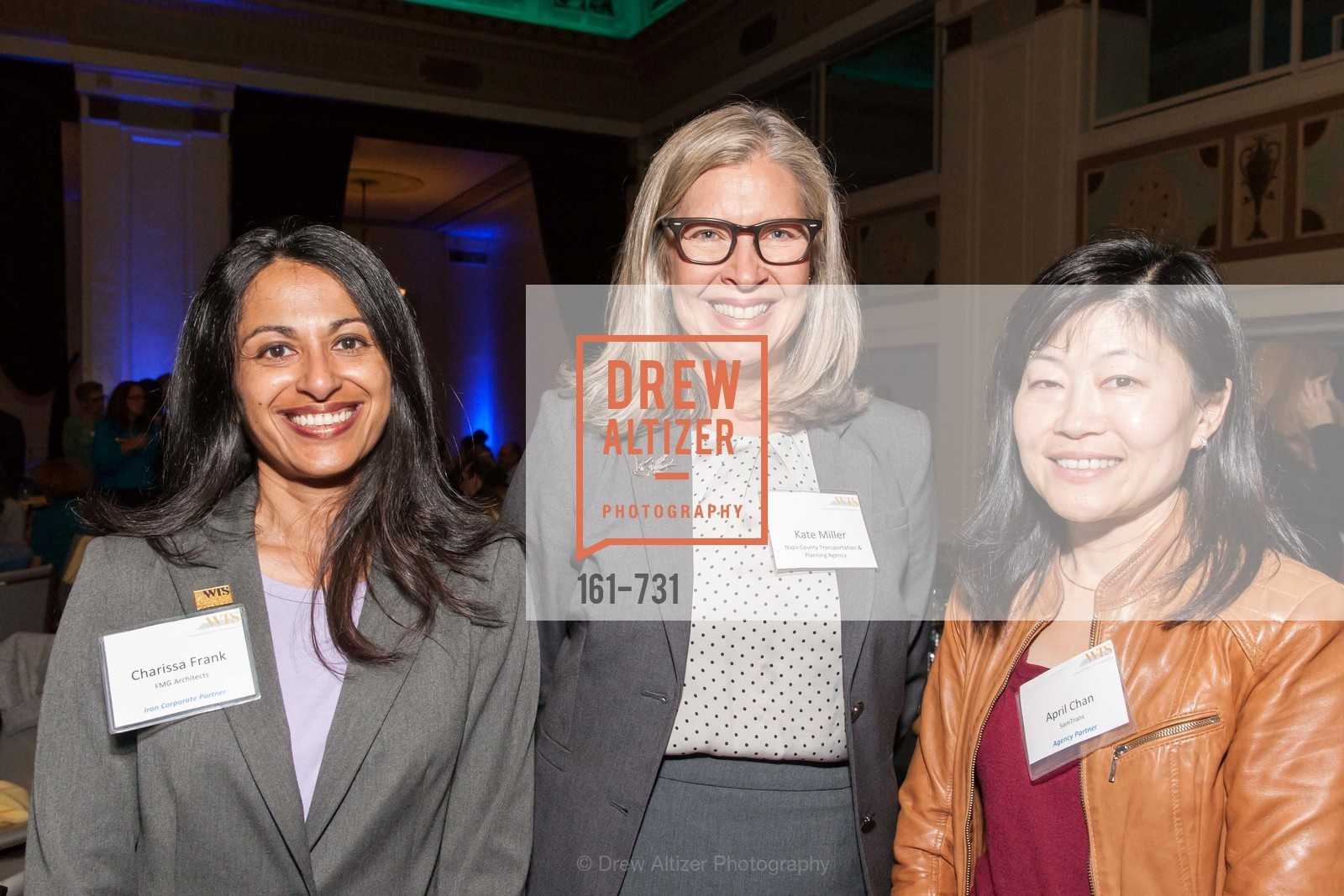 Charisse Frank, Kate Miller, April Chan, WOMEN'S TRANSPORTATION SEMINAR SF Bay Area Chapter Annual Scholarship Awards, US, May 15th, 2015,Drew Altizer, Drew Altizer Photography, full-service agency, private events, San Francisco photographer, photographer california