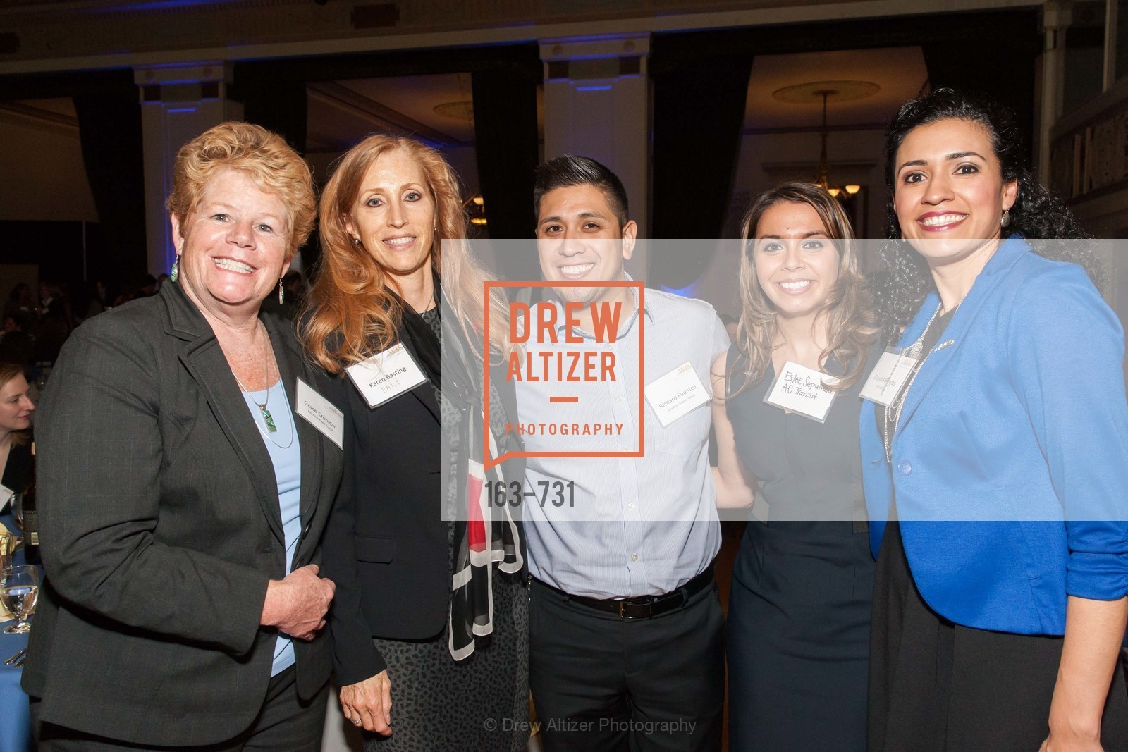 Grace Crunican, Karen Basting, Richard Fuentes, Estee Sepulveda, Claudia Burgos, WOMEN'S TRANSPORTATION SEMINAR SF Bay Area Chapter Annual Scholarship Awards, US, May 15th, 2015,Drew Altizer, Drew Altizer Photography, full-service agency, private events, San Francisco photographer, photographer california