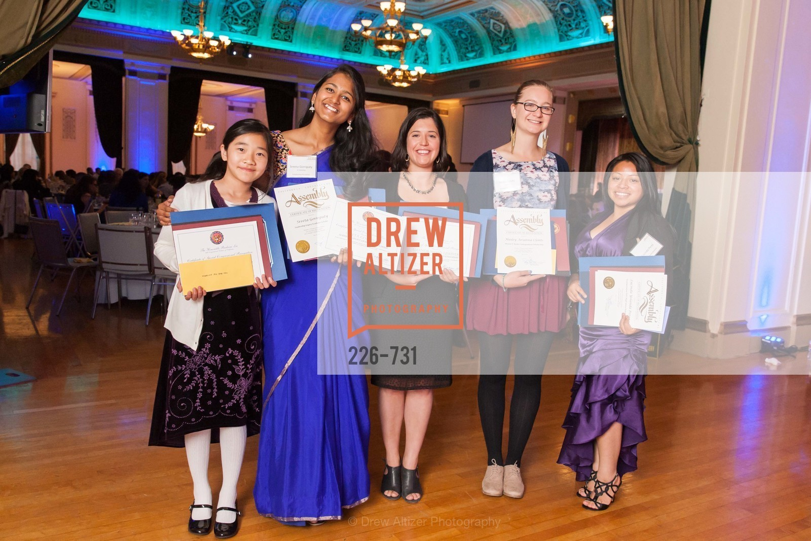 Audrey Choi, Sreeta Gorripaty, Eleanor Leshner, Hailey Clont, Lucinda Perez, WOMEN'S TRANSPORTATION SEMINAR SF Bay Area Chapter Annual Scholarship Awards, US, May 15th, 2015,Drew Altizer, Drew Altizer Photography, full-service agency, private events, San Francisco photographer, photographer california