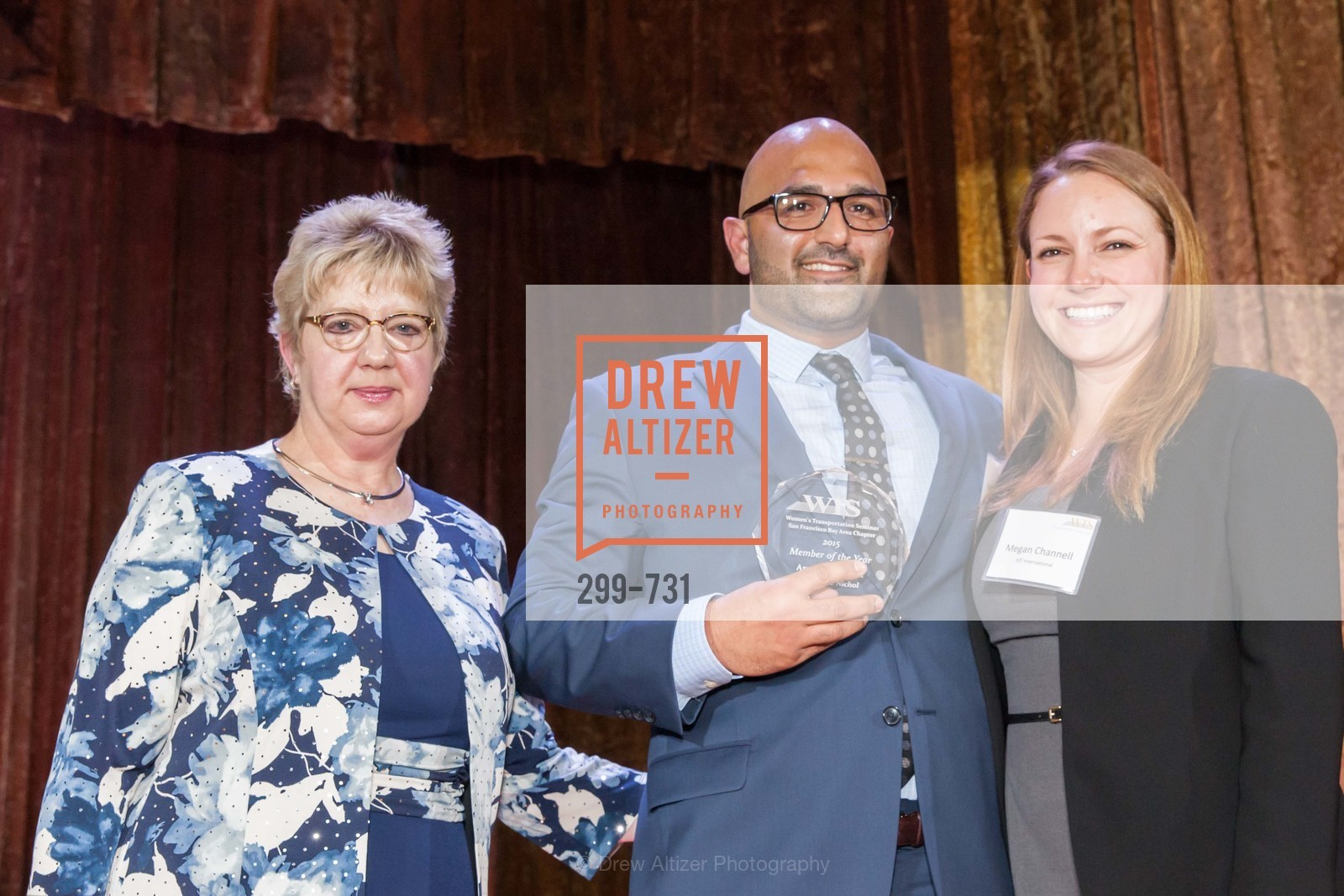 Darlene Gee, Arash Monsefan, Megal Channell, WOMEN'S TRANSPORTATION SEMINAR SF Bay Area Chapter Annual Scholarship Awards, US, May 15th, 2015,Drew Altizer, Drew Altizer Photography, full-service event agency, private events, San Francisco photographer, photographer California