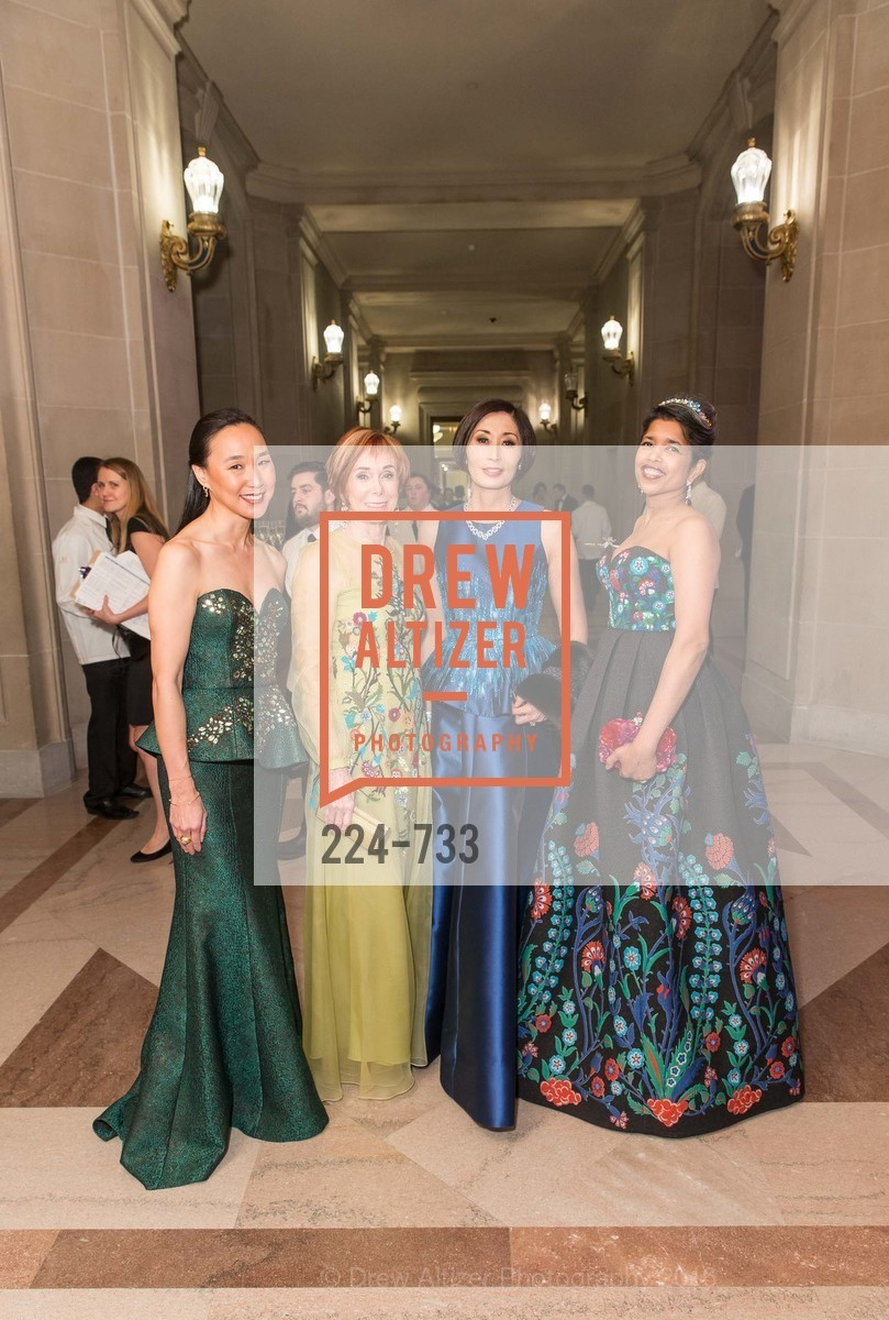 Carolyn Chang, Norah Stone, Yurie Pascarella, Deepa Pakianathan, San Francisco Ballet 2016 Opening Night Gala, San Francisco City Hall. 1 Dr Carlton B Goodlett Pl, January 21st, 2016,Drew Altizer, Drew Altizer Photography, full-service agency, private events, San Francisco photographer, photographer california