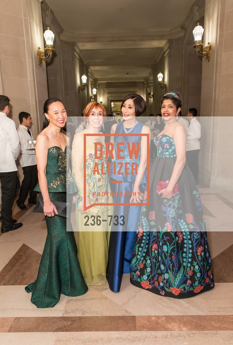 Carolyn Chang, Norah Stone, Yurie Pascarella, Deepa Pakianathan, San Francisco Ballet 2016 Opening Night Gala, San Francisco City Hall. 1 Dr Carlton B Goodlett Pl, January 21st, 2016,Drew Altizer, Drew Altizer Photography, full-service event agency, private events, San Francisco photographer, photographer California