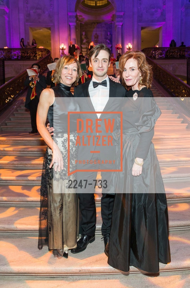 Janice Barger, Ruben Martin, Brenda Jewett, San Francisco Ballet 2016 Opening Night Gala, San Francisco City Hall. 1 Dr Carlton B Goodlett Pl, January 21st, 2016,Drew Altizer, Drew Altizer Photography, full-service agency, private events, San Francisco photographer, photographer california