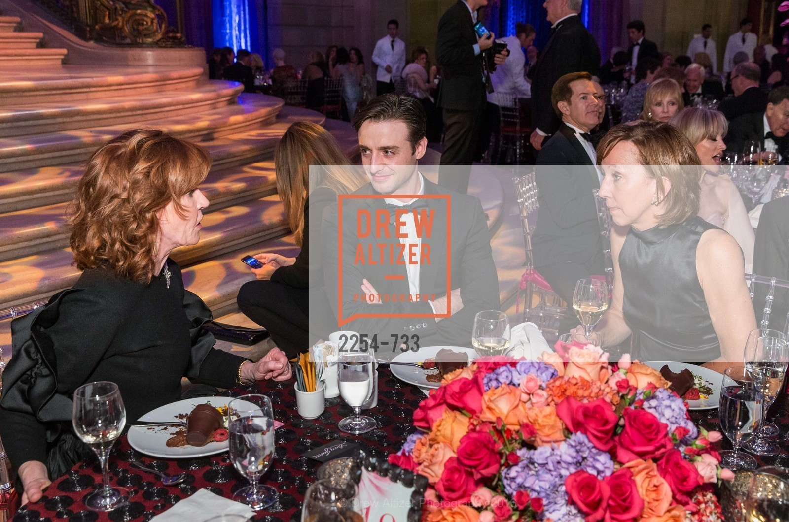 Brenda Jewett, Ruben Martin, Janice Barger, San Francisco Ballet 2016 Opening Night Gala, San Francisco City Hall. 1 Dr Carlton B Goodlett Pl, January 21st, 2016,Drew Altizer, Drew Altizer Photography, full-service agency, private events, San Francisco photographer, photographer california