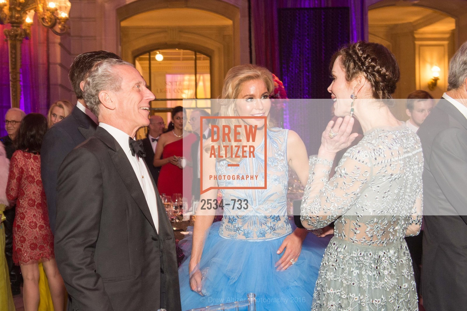 Jim Marver, Paula Carano, Stephanie Marver, San Francisco Ballet 2016 Opening Night Gala, San Francisco City Hall. 1 Dr Carlton B Goodlett Pl, January 21st, 2016,Drew Altizer, Drew Altizer Photography, full-service agency, private events, San Francisco photographer, photographer california