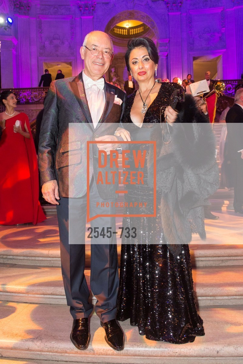 Alain Azan, Esmeralda Azan, San Francisco Ballet 2016 Opening Night Gala, San Francisco City Hall. 1 Dr Carlton B Goodlett Pl, January 21st, 2016,Drew Altizer, Drew Altizer Photography, full-service agency, private events, San Francisco photographer, photographer california