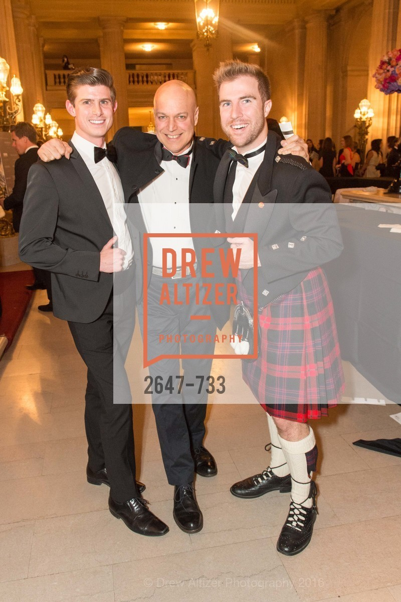 Michael Roderick, Freddy Clarke, Matthew Kimball, San Francisco Ballet 2016 Opening Night Gala, San Francisco City Hall. 1 Dr Carlton B Goodlett Pl, January 21st, 2016,Drew Altizer, Drew Altizer Photography, full-service agency, private events, San Francisco photographer, photographer california