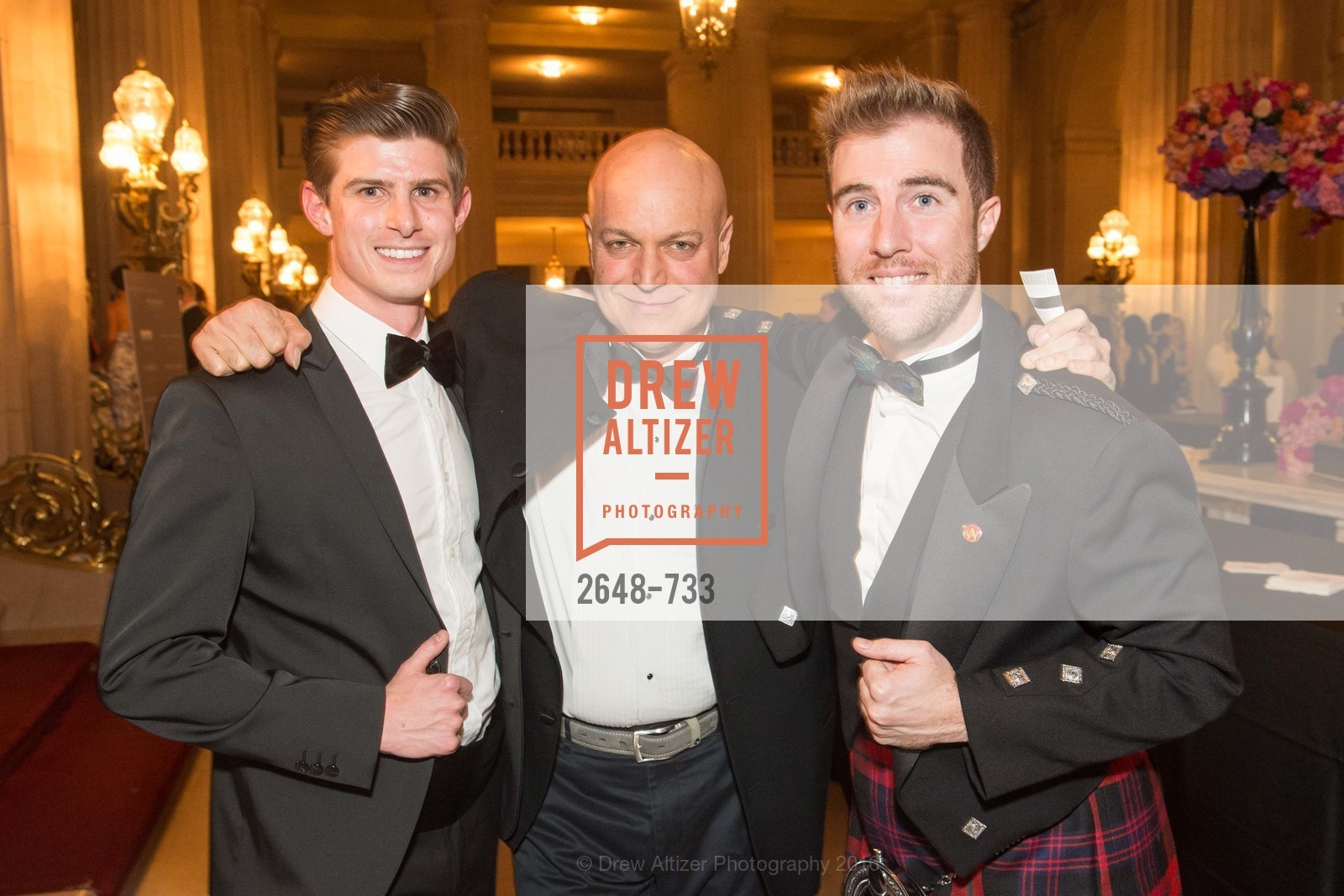 Michael Roderick, Freddy Clarke, Matthew Kimball, San Francisco Ballet 2016 Opening Night Gala, San Francisco City Hall. 1 Dr Carlton B Goodlett Pl, January 21st, 2016,Drew Altizer, Drew Altizer Photography, full-service event agency, private events, San Francisco photographer, photographer California