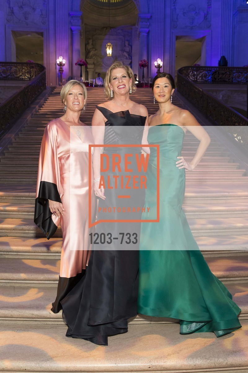 Rhonda Mahendroo, Jennifer Brandenburg, Christine Leong Connors, San Francisco Ballet 2016 Opening Night Gala, San Francisco City Hall. 1 Dr Carlton B Goodlett Pl, January 21st, 2016,Drew Altizer, Drew Altizer Photography, full-service agency, private events, San Francisco photographer, photographer california