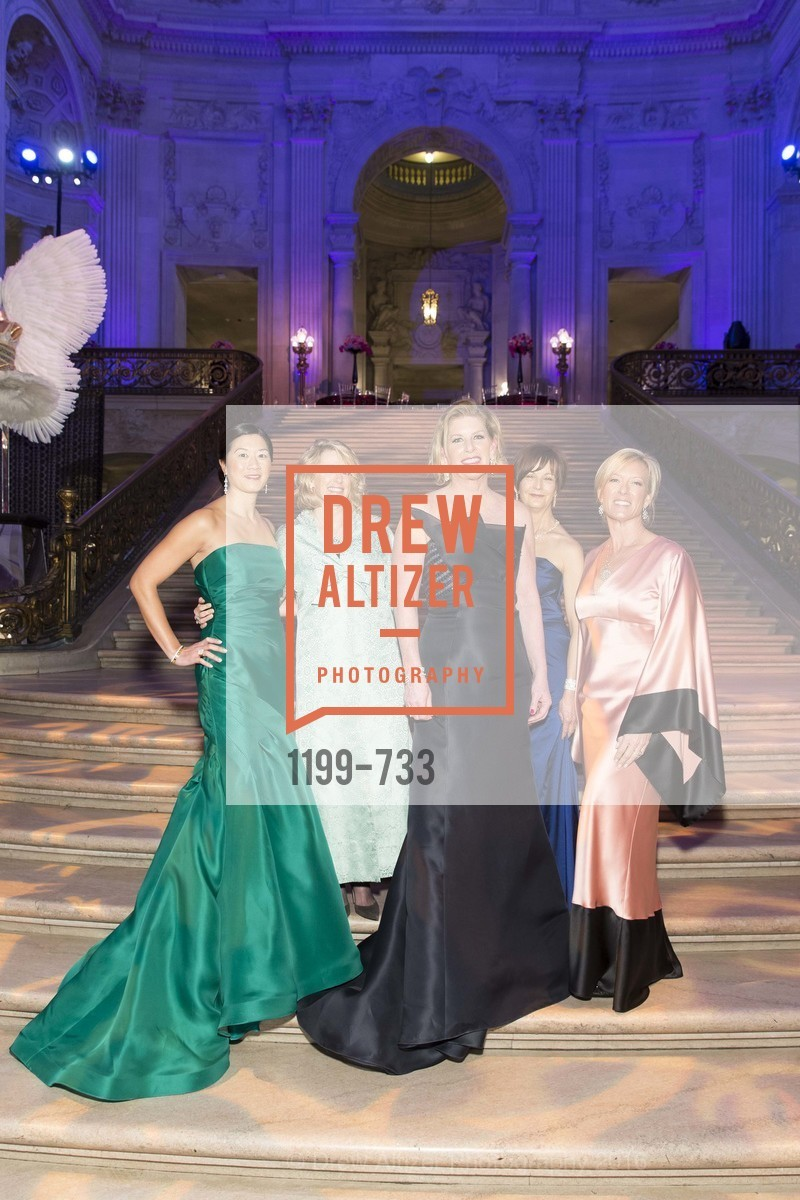 Christine Leong Connors, Marie Hurabiell, Jennifer Brandenburg, Debra Bernard, Rhonda Mahendroo, San Francisco Ballet 2016 Opening Night Gala, San Francisco City Hall. 1 Dr Carlton B Goodlett Pl, January 21st, 2016,Drew Altizer, Drew Altizer Photography, full-service agency, private events, San Francisco photographer, photographer california