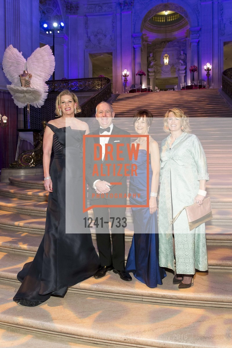 Jennifer Brandenburg, Glenn McCoy, Debra Bernard, Marie Hurabiell, San Francisco Ballet 2016 Opening Night Gala, San Francisco City Hall. 1 Dr Carlton B Goodlett Pl, January 21st, 2016,Drew Altizer, Drew Altizer Photography, full-service agency, private events, San Francisco photographer, photographer california