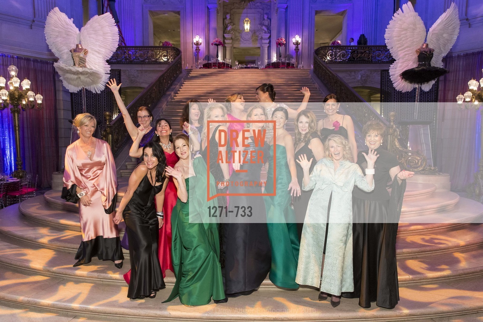 Rhonda Mahendroo, Carolyn Koenig, Deborah Taylor, Donna Bachle, Ave Seltsam, Catherine Bergstrom, Claire Kostic, Rene Rodman, Jennifer Brandenburg, Christine Leong Connors, Trecia Knapp, Patricia Ferrin Loucks, Marie Hurabiell, Suzanne Thornton, San Francisco Ballet 2016 Opening Night Gala, San Francisco City Hall. 1 Dr Carlton B Goodlett Pl, January 21st, 2016,Drew Altizer, Drew Altizer Photography, full-service agency, private events, San Francisco photographer, photographer california
