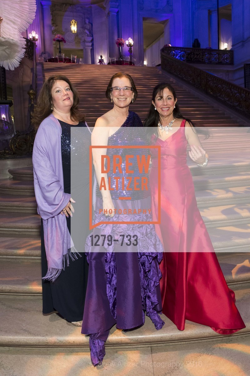 Catherine Bergstrom, Carolyn Koenig, Donna Bachle, San Francisco Ballet 2016 Opening Night Gala, San Francisco City Hall. 1 Dr Carlton B Goodlett Pl, January 21st, 2016,Drew Altizer, Drew Altizer Photography, full-service agency, private events, San Francisco photographer, photographer california
