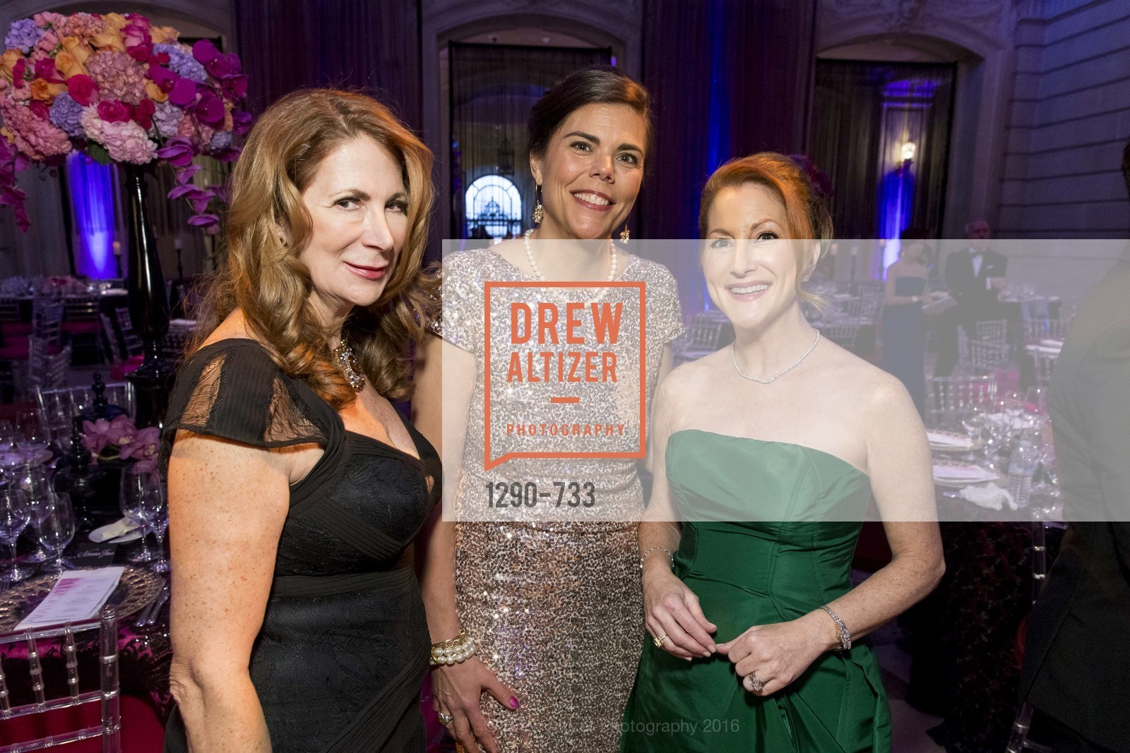 Patricia Ferrin Loucks, Trecia Knapp, Ave Seltsam, San Francisco Ballet 2016 Opening Night Gala, San Francisco City Hall. 1 Dr Carlton B Goodlett Pl, January 21st, 2016,Drew Altizer, Drew Altizer Photography, full-service agency, private events, San Francisco photographer, photographer california