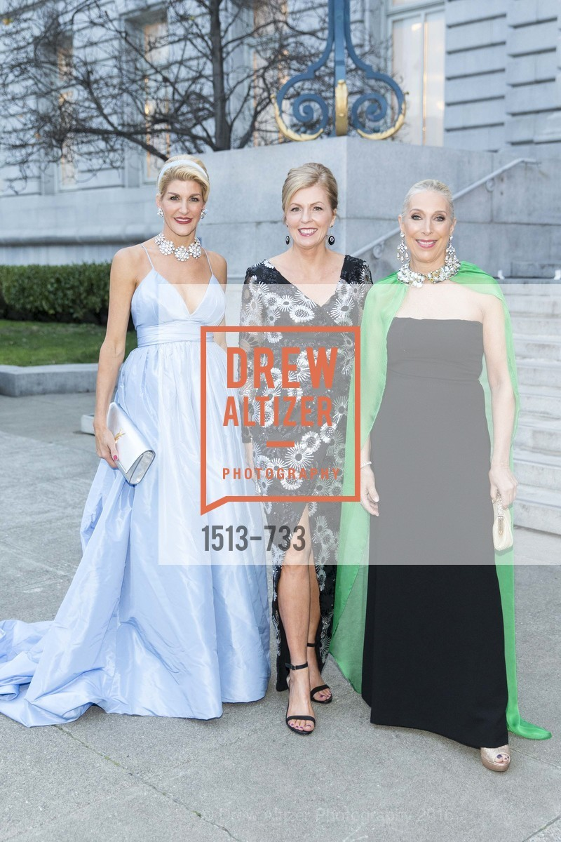 Karen Caldwell, Paula Bennett, Betsy Linder, San Francisco Ballet 2016 Opening Night Gala, San Francisco City Hall. 1 Dr Carlton B Goodlett Pl, January 21st, 2016,Drew Altizer, Drew Altizer Photography, full-service agency, private events, San Francisco photographer, photographer california
