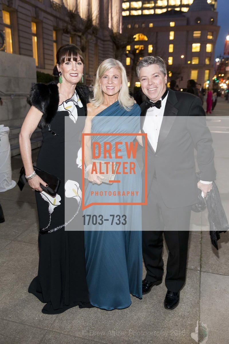 Allison Speer, Lynn Callander, Peter Callander, San Francisco Ballet 2016 Opening Night Gala, San Francisco City Hall. 1 Dr Carlton B Goodlett Pl, January 21st, 2016,Drew Altizer, Drew Altizer Photography, full-service agency, private events, San Francisco photographer, photographer california