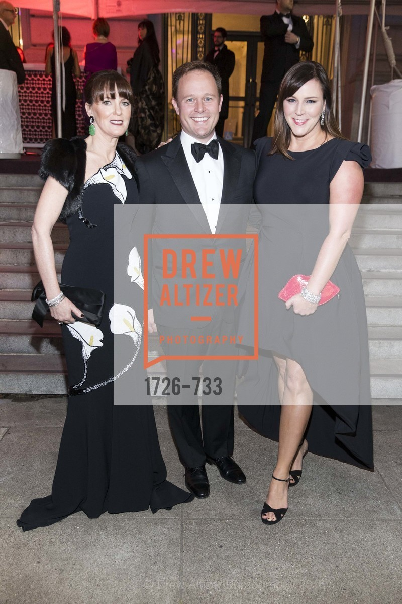Allison Speer, Kirk Seward, Audrey Cooper, San Francisco Ballet 2016 Opening Night Gala, San Francisco City Hall. 1 Dr Carlton B Goodlett Pl, January 21st, 2016,Drew Altizer, Drew Altizer Photography, full-service agency, private events, San Francisco photographer, photographer california