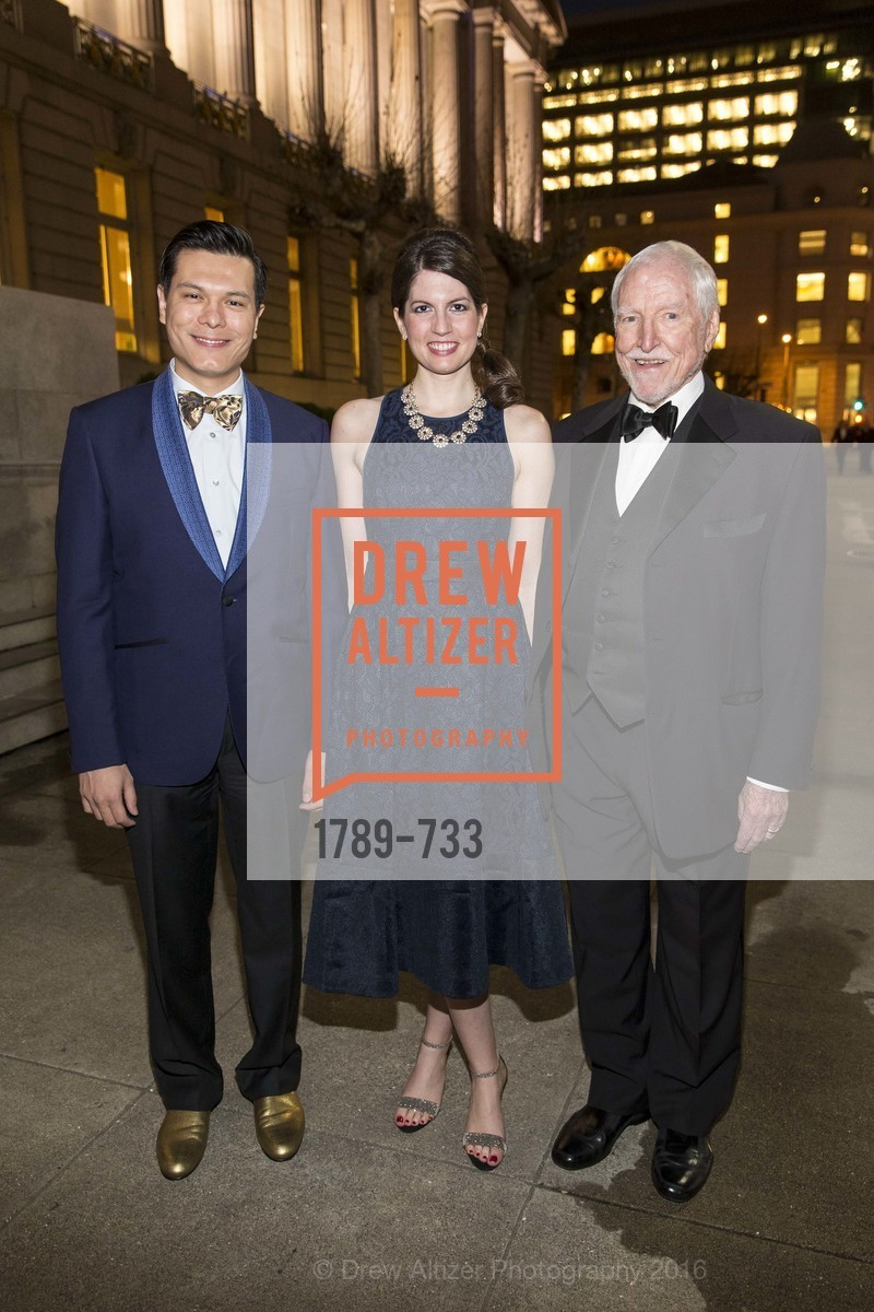 Michael Nguyen, Ragan Memmott, Jim Hormel, San Francisco Ballet 2016 Opening Night Gala, San Francisco City Hall. 1 Dr Carlton B Goodlett Pl, January 21st, 2016