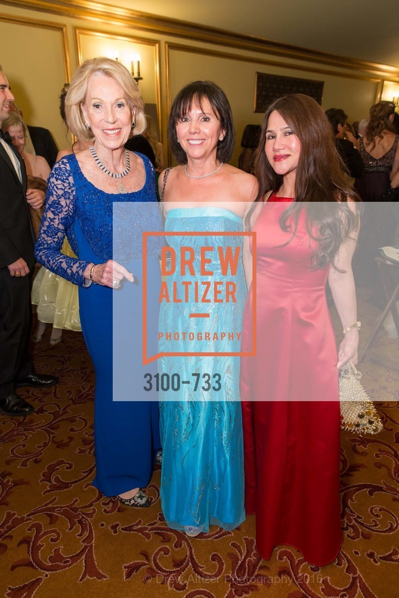 Charlotte Schultz, Barbara Cartier, Lilian Phan, San Francisco Ballet 2016 Opening Night Gala, San Francisco City Hall. 1 Dr Carlton B Goodlett Pl, January 21st, 2016,Drew Altizer, Drew Altizer Photography, full-service agency, private events, San Francisco photographer, photographer california