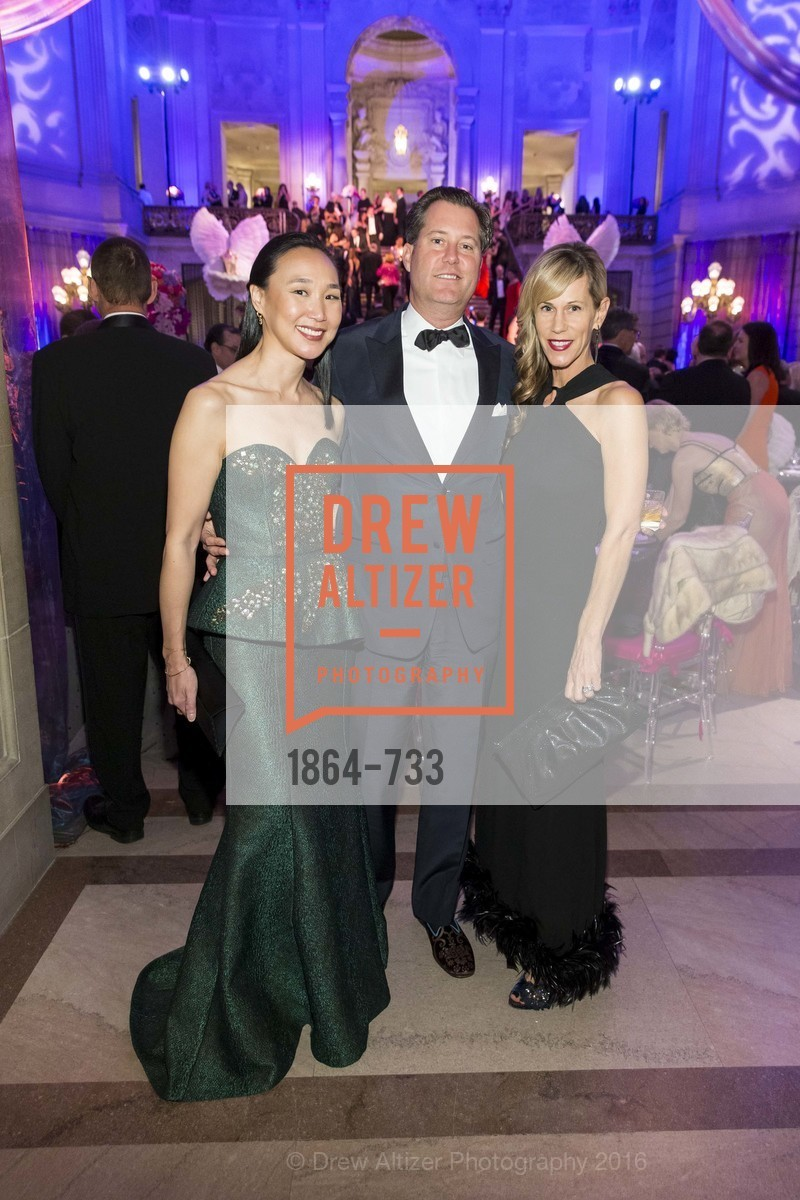 Carolyn Chang, Patrick Barber, Melissa Barber, San Francisco Ballet 2016 Opening Night Gala, San Francisco City Hall. 1 Dr Carlton B Goodlett Pl, January 21st, 2016,Drew Altizer, Drew Altizer Photography, full-service agency, private events, San Francisco photographer, photographer california