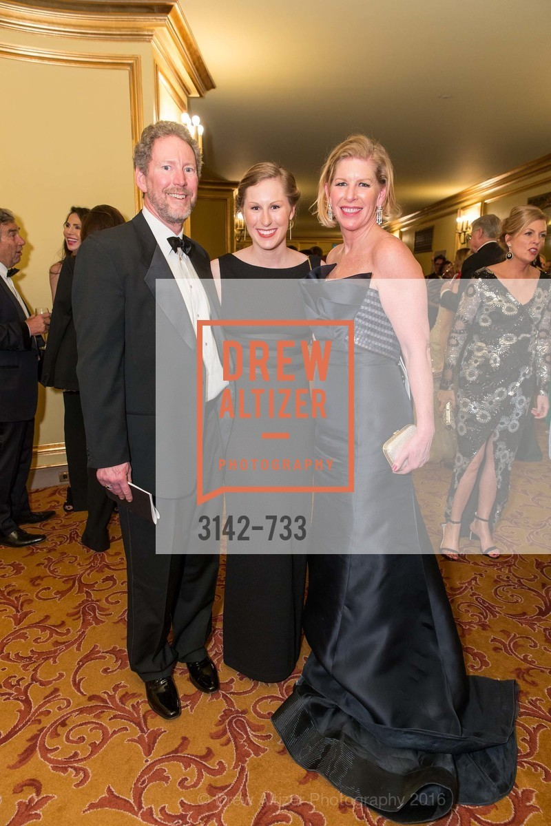 Bill Brandenburg, Alexandra Brandenburg, Jennifer Brandenburg, San Francisco Ballet 2016 Opening Night Gala, San Francisco City Hall. 1 Dr Carlton B Goodlett Pl, January 21st, 2016,Drew Altizer, Drew Altizer Photography, full-service agency, private events, San Francisco photographer, photographer california