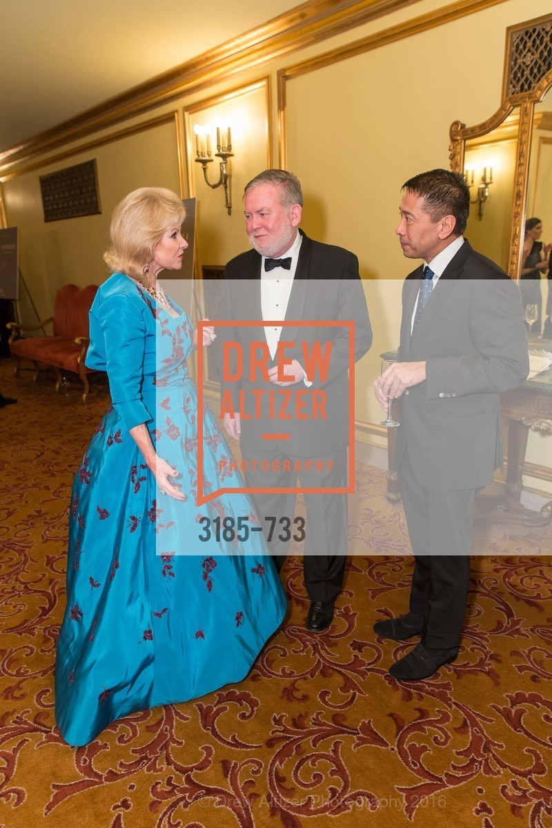Dede Wilsey, Tom Flynn, Fermin Nasol, San Francisco Ballet 2016 Opening Night Gala, San Francisco City Hall. 1 Dr Carlton B Goodlett Pl, January 21st, 2016,Drew Altizer, Drew Altizer Photography, full-service agency, private events, San Francisco photographer, photographer california