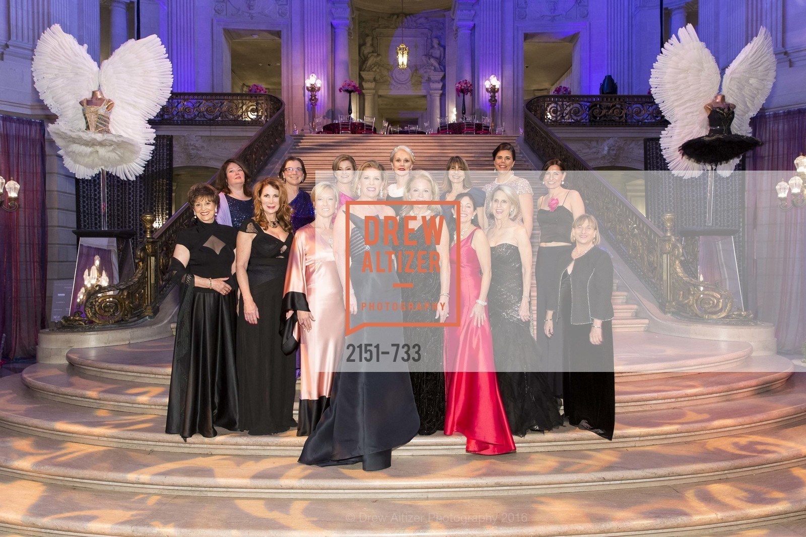 Suzanne Thornton, Catherine Bergstrom, Patricia Ferrin Loucks, Carolyn Koenig, Rhonda Mahendroo, Rene Rodman, Jennifer Brandenburg, Claire Kostic, Donna Bachle, Trecia Knapp, San Francisco Ballet 2016 Opening Night Gala, San Francisco City Hall. 1 Dr Carlton B Goodlett Pl, January 21st, 2016,Drew Altizer, Drew Altizer Photography, full-service agency, private events, San Francisco photographer, photographer california