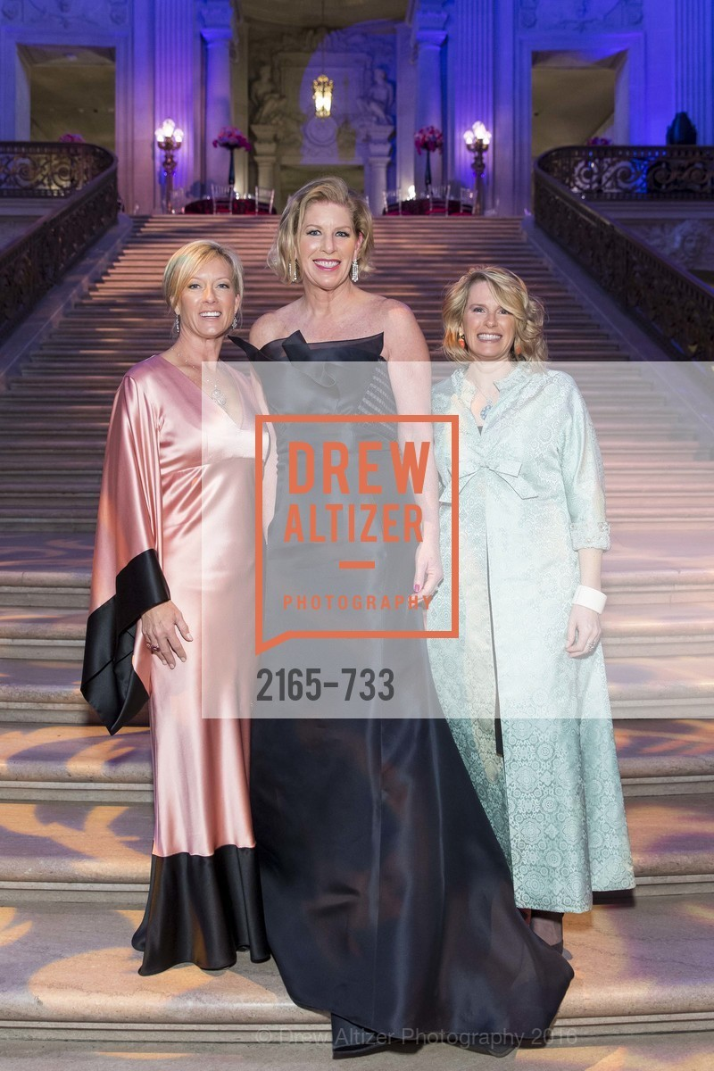 Rhonda Mahendroo, Jennifer Brandenburg, Marie Hurabiell, San Francisco Ballet 2016 Opening Night Gala, San Francisco City Hall. 1 Dr Carlton B Goodlett Pl, January 21st, 2016,Drew Altizer, Drew Altizer Photography, full-service agency, private events, San Francisco photographer, photographer california