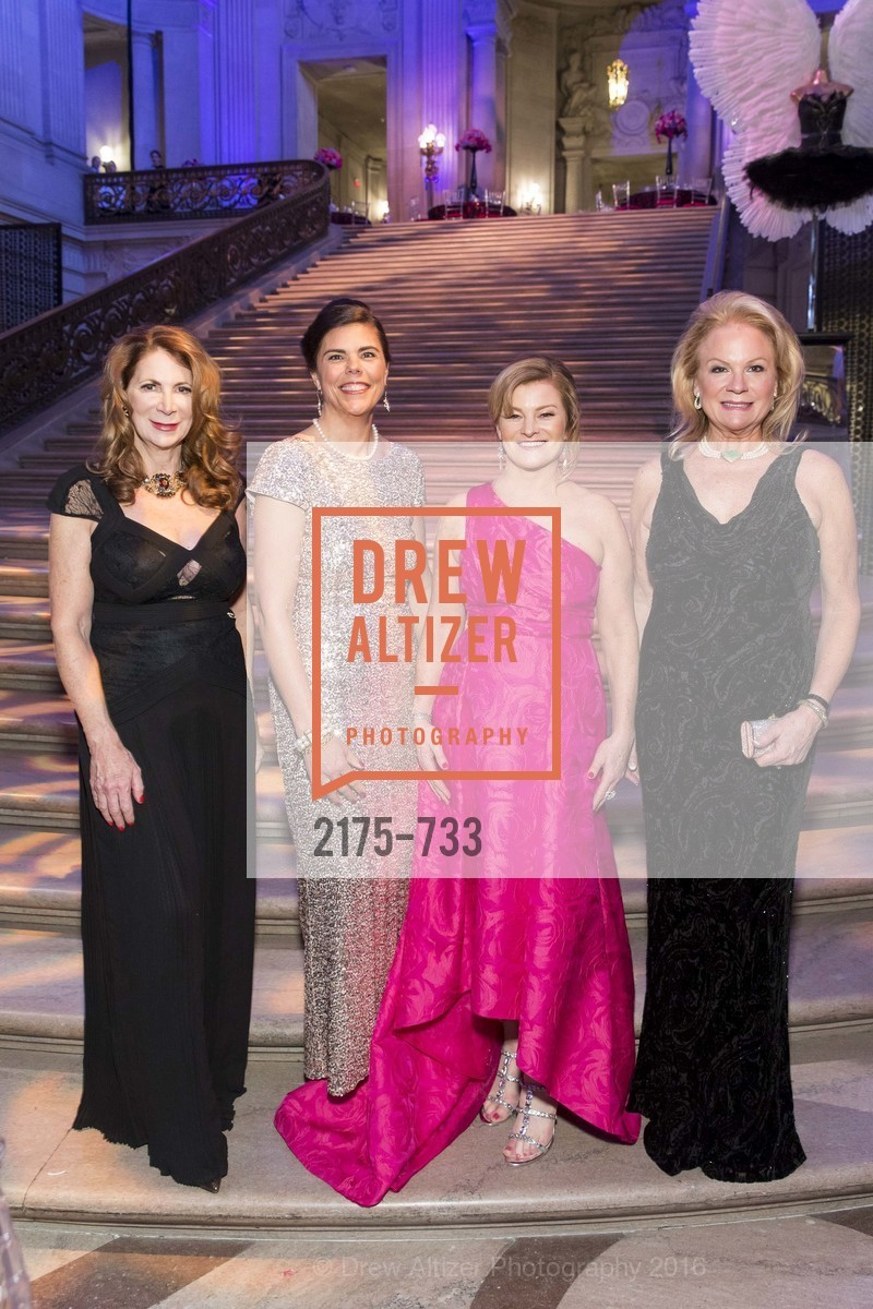 Patricia Ferrin Loucks, Trecia Knapp, Renee Rodman, Claire Kostic, San Francisco Ballet 2016 Opening Night Gala, San Francisco City Hall. 1 Dr Carlton B Goodlett Pl, January 21st, 2016,Drew Altizer, Drew Altizer Photography, full-service agency, private events, San Francisco photographer, photographer california