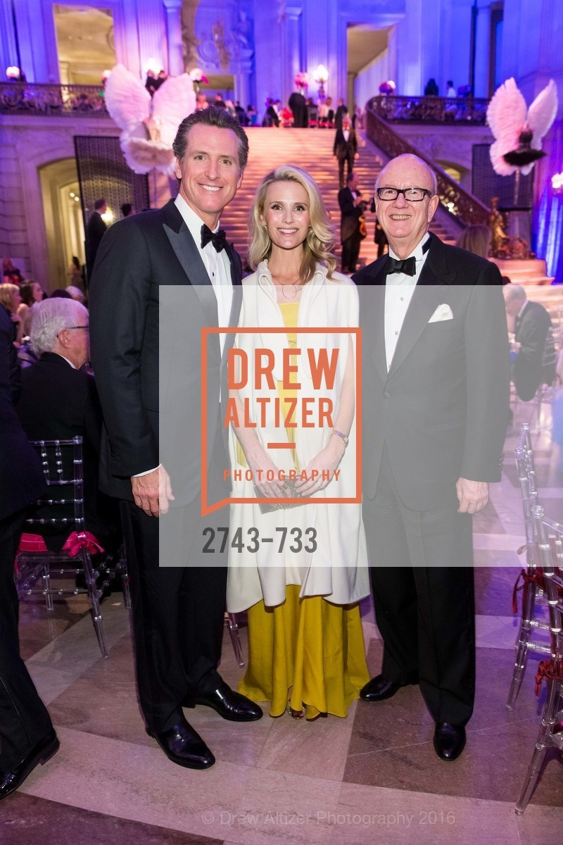 Gavin Newsom, Jennifer Siebel Newsom, Tom Horn, San Francisco Ballet 2016 Opening Night Gala, San Francisco City Hall. 1 Dr Carlton B Goodlett Pl, January 21st, 2016,Drew Altizer, Drew Altizer Photography, full-service agency, private events, San Francisco photographer, photographer california