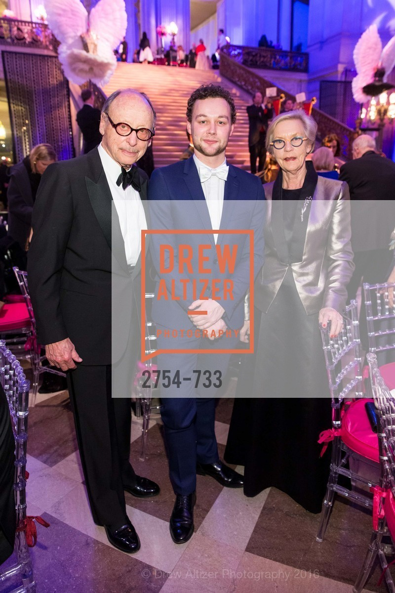 Bernard Osher, Liam Scarlett, Barbro Osher, San Francisco Ballet 2016 Opening Night Gala, San Francisco City Hall. 1 Dr Carlton B Goodlett Pl, January 21st, 2016,Drew Altizer, Drew Altizer Photography, full-service agency, private events, San Francisco photographer, photographer california