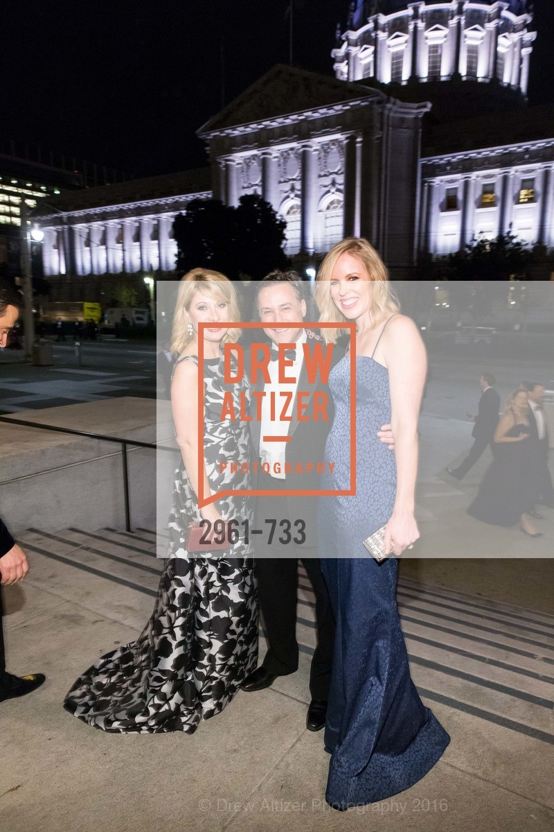 Jennifer Mancuso, Michael Cuggino, Holly Cuggino, San Francisco Ballet 2016 Opening Night Gala, San Francisco City Hall. 1 Dr Carlton B Goodlett Pl, January 21st, 2016,Drew Altizer, Drew Altizer Photography, full-service agency, private events, San Francisco photographer, photographer california