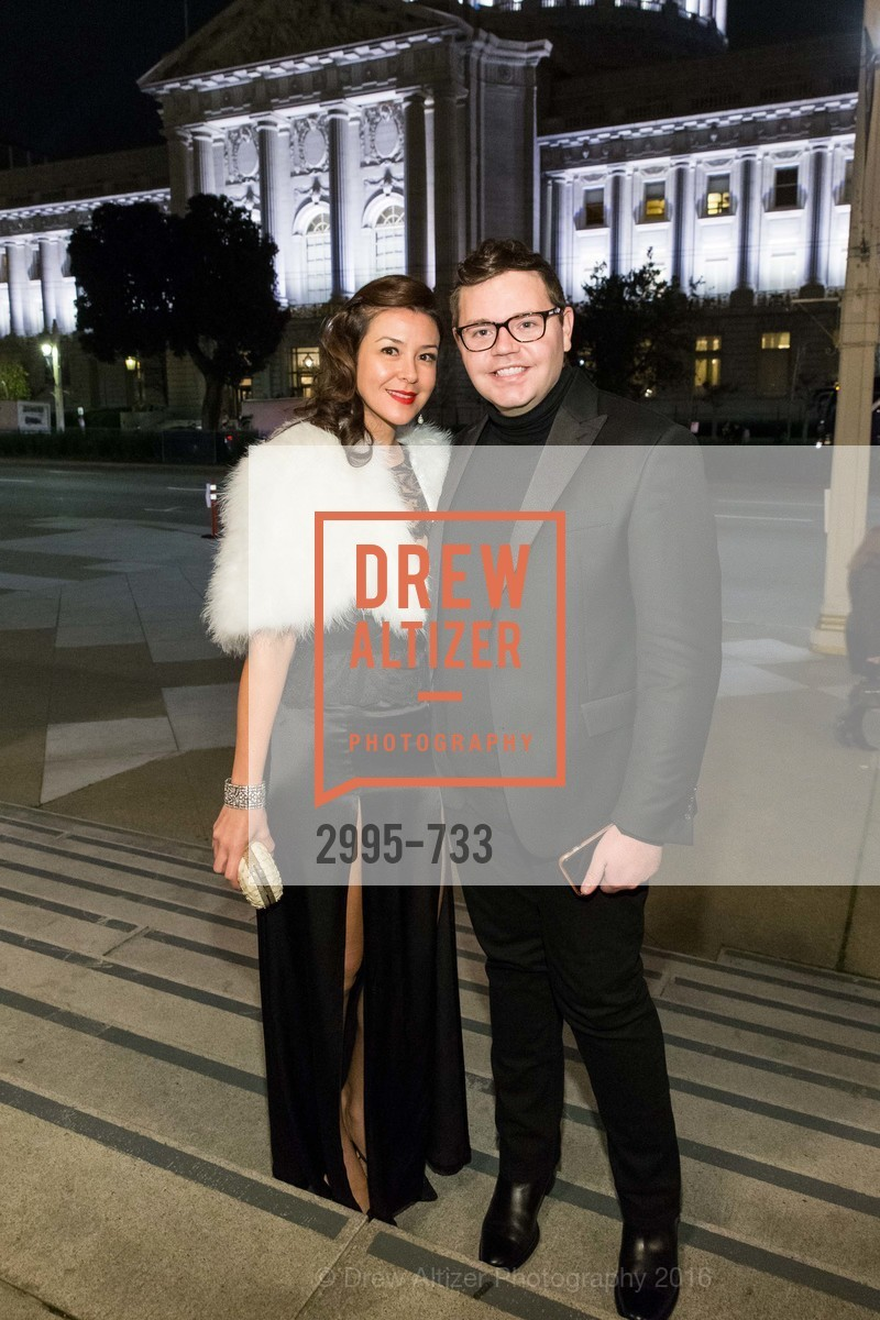 Phoebe Mireles, Robert Brotherton, San Francisco Ballet 2016 Opening Night Gala, San Francisco City Hall. 1 Dr Carlton B Goodlett Pl, January 21st, 2016,Drew Altizer, Drew Altizer Photography, full-service agency, private events, San Francisco photographer, photographer california