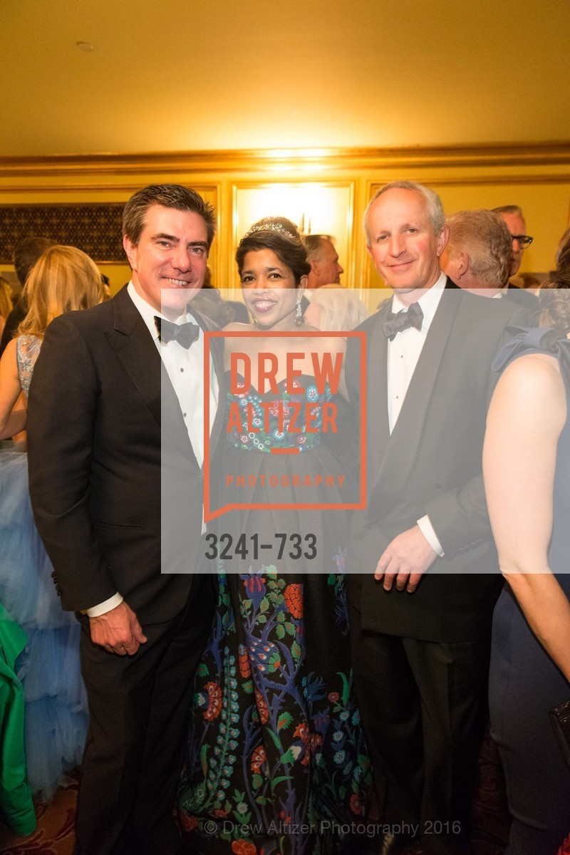 Bandel Carano, Deepa Pakianathan, Phil Pemberton, San Francisco Ballet 2016 Opening Night Gala, San Francisco City Hall. 1 Dr Carlton B Goodlett Pl, January 21st, 2016,Drew Altizer, Drew Altizer Photography, full-service agency, private events, San Francisco photographer, photographer california
