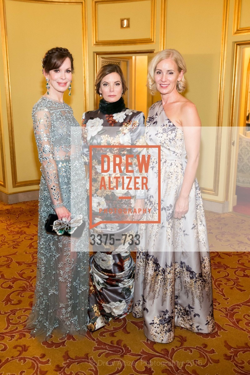 Stephanie Marver, Suzy Kellems Dominik, Jennifer Benham, San Francisco Ballet 2016 Opening Night Gala, San Francisco City Hall. 1 Dr Carlton B Goodlett Pl, January 21st, 2016,Drew Altizer, Drew Altizer Photography, full-service agency, private events, San Francisco photographer, photographer california