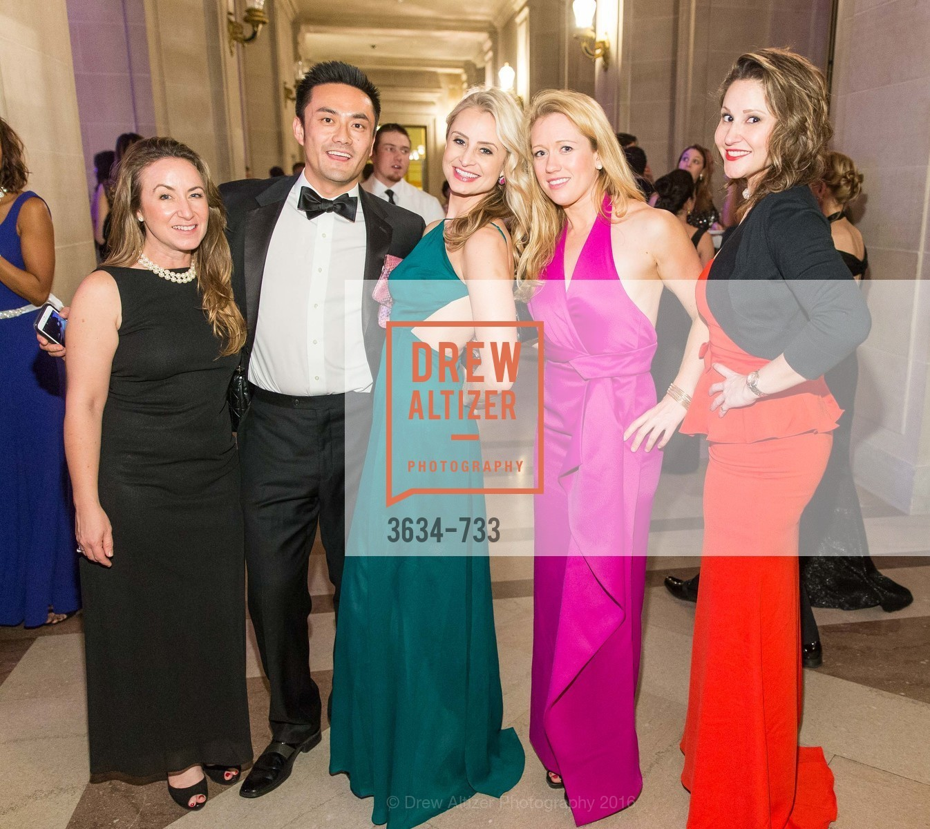 Kristin Herzant, Marissa Wornick, Christina Nugent, Kimmy Killmaier, San Francisco Ballet 2016 Opening Night Gala, San Francisco City Hall. 1 Dr Carlton B Goodlett Pl, January 21st, 2016,Drew Altizer, Drew Altizer Photography, full-service agency, private events, San Francisco photographer, photographer california