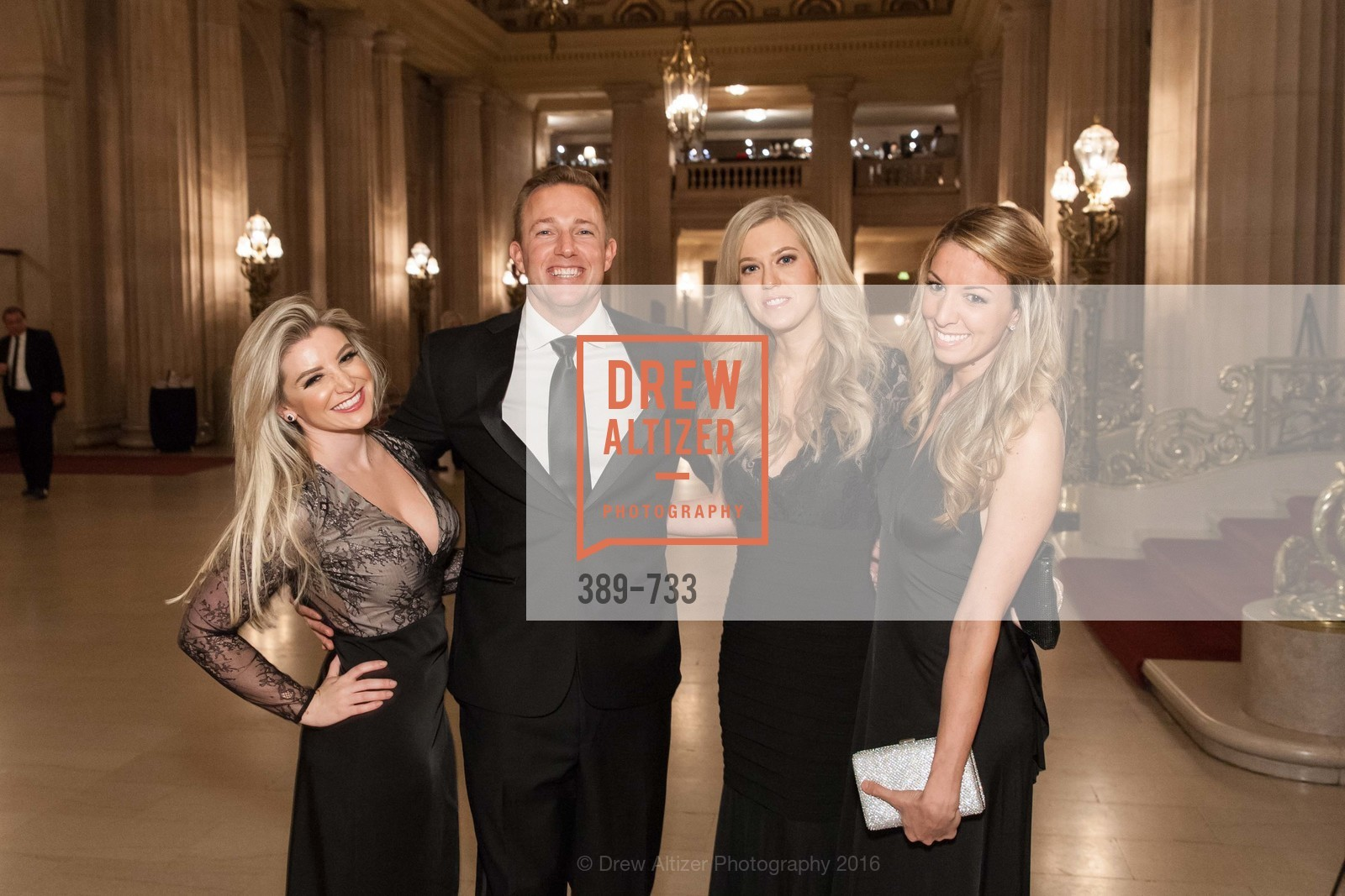 Mandy Salzman, Dan Lennon, Courtney Faber, Danielle Hake, San Francisco Ballet 2016 Opening Night Gala, San Francisco City Hall. 1 Dr Carlton B Goodlett Pl, January 21st, 2016,Drew Altizer, Drew Altizer Photography, full-service agency, private events, San Francisco photographer, photographer california